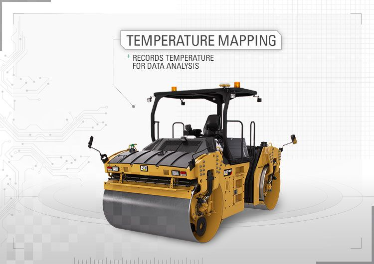 Temperature mapping records temperature for data analysis.