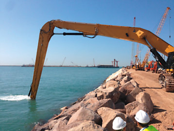 One-of-a-Kind Hydraulic Shovel for a Sophisticated Port Project