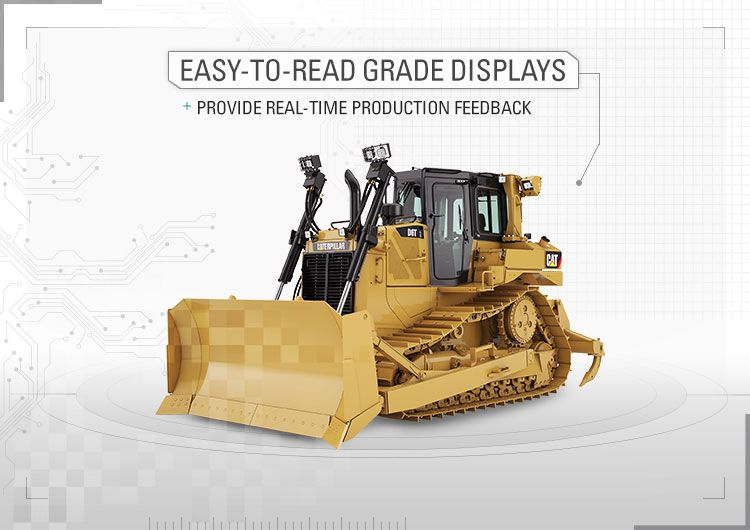 Easy-to-read Grade displays provide real-time production feedback.