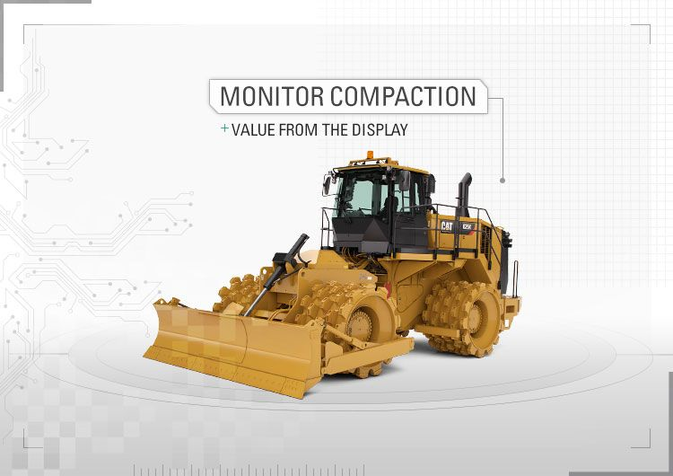 Monitor compaction value from the display.