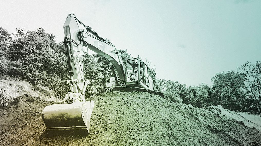 "Father & Son ""Blown Away"" By Cat Grade Assist 323 Excavator"