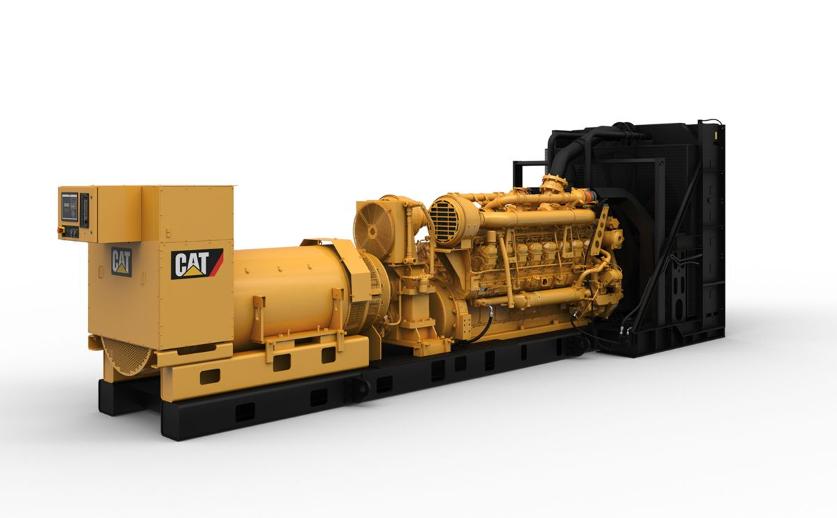 Cat® 3516C diesel generator set with low emissions standby power nodes