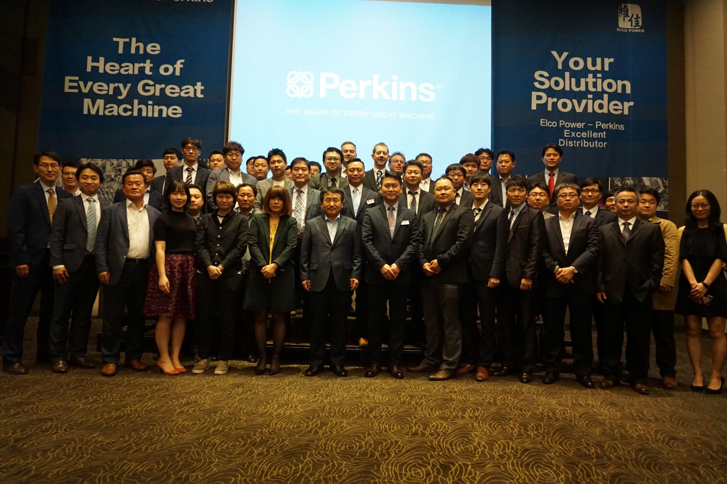 Perkins distributor Elco hosts electric power seminar in Korea