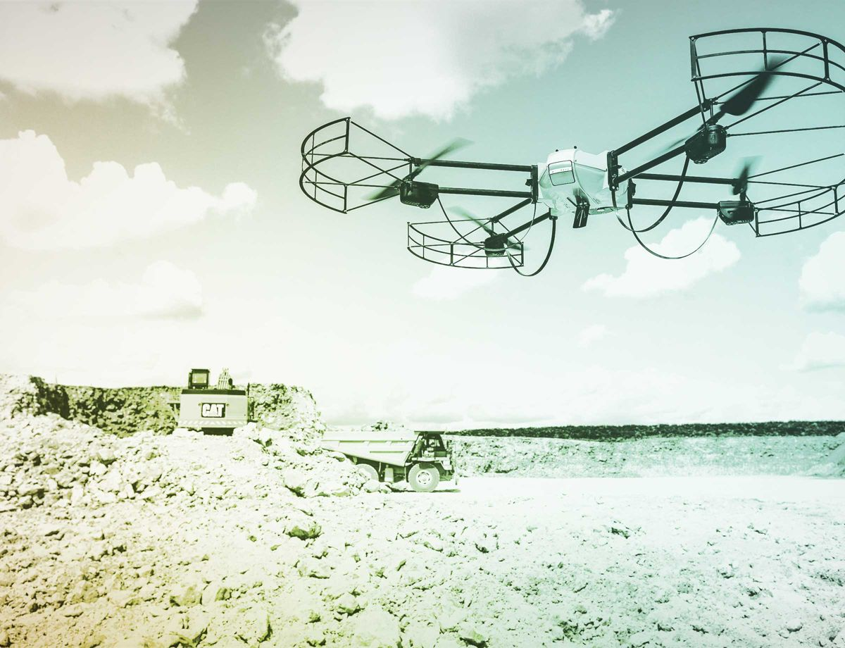 An unmanned aerial vehicle (drone) can map your site faster and more thoroughly than a manual surveyor.