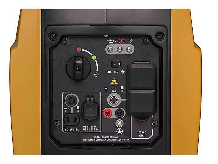 INV2000 Gros plan du panneau de commande