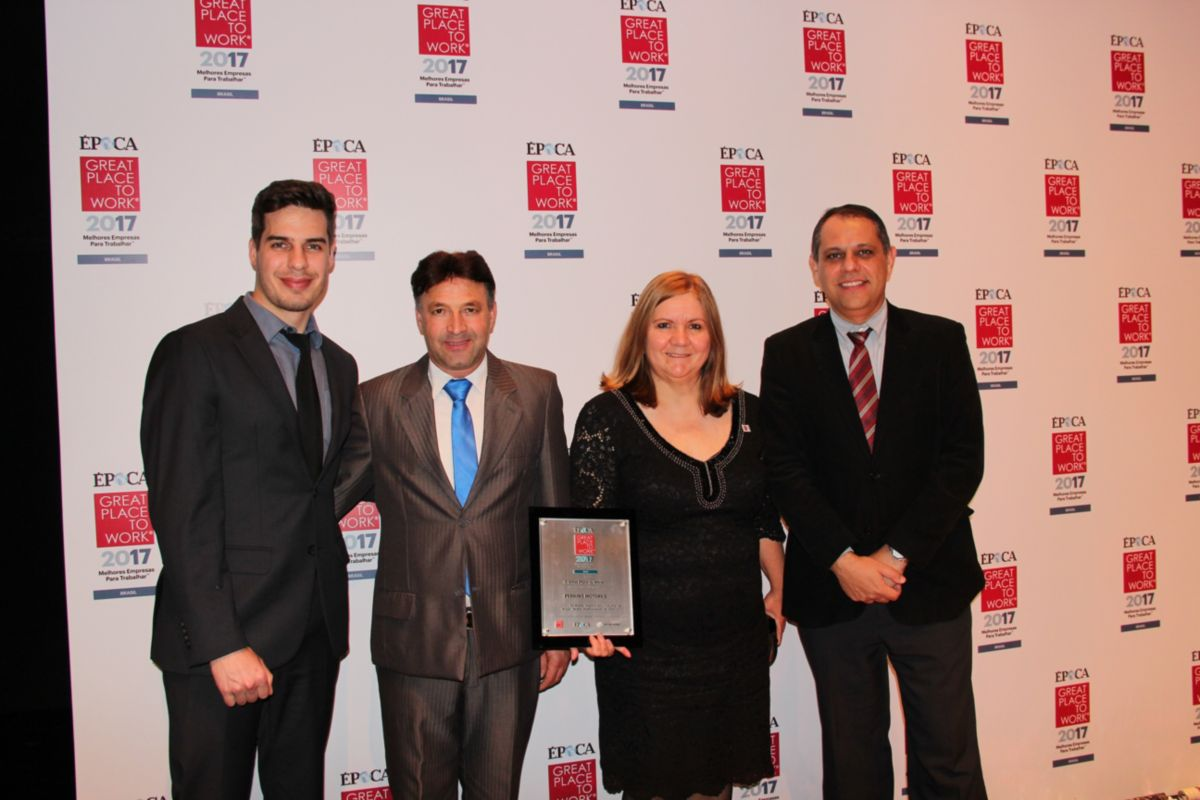 Four times lucky for Perkins Motores do Brasil Ltda as once again the company is recognised as a Top 10 employer in Brazil