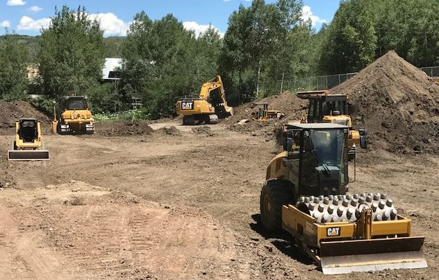 Cat® machines building site for the Town of Snowmass' new Fire Station #71