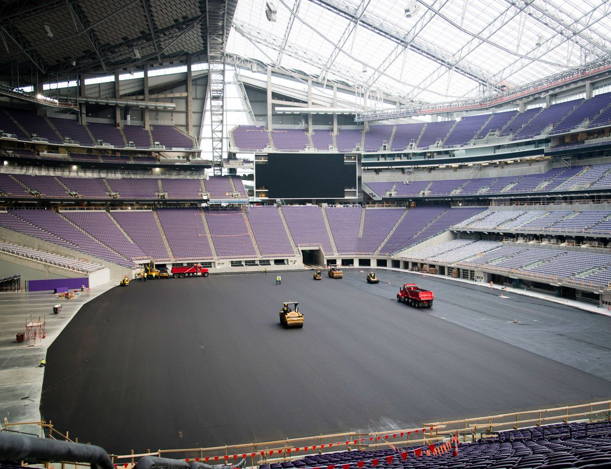 """We're doing something that nobody in the industry has done before—putting an asphalt layer down underneath an athletic field,"" says John Lenarz, Park Construction."