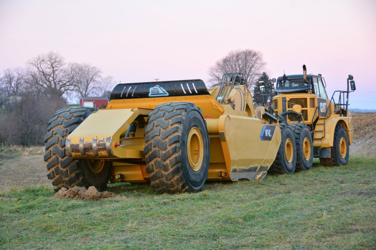 MTS in Elkader, Iowa, manufactures earthmoving equipment to complement the current line of Cat products. MTS builds a variety of pull pan scraper models and construction-grade tractors developed specifically for excavation and grading.