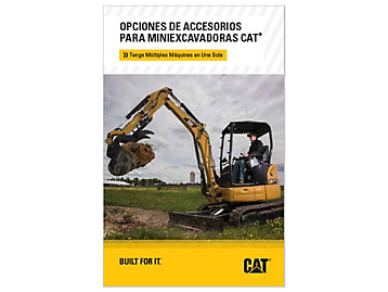 Opciones De Herramientas De Trabajo Para Mini Excavadora De Orugas Cat