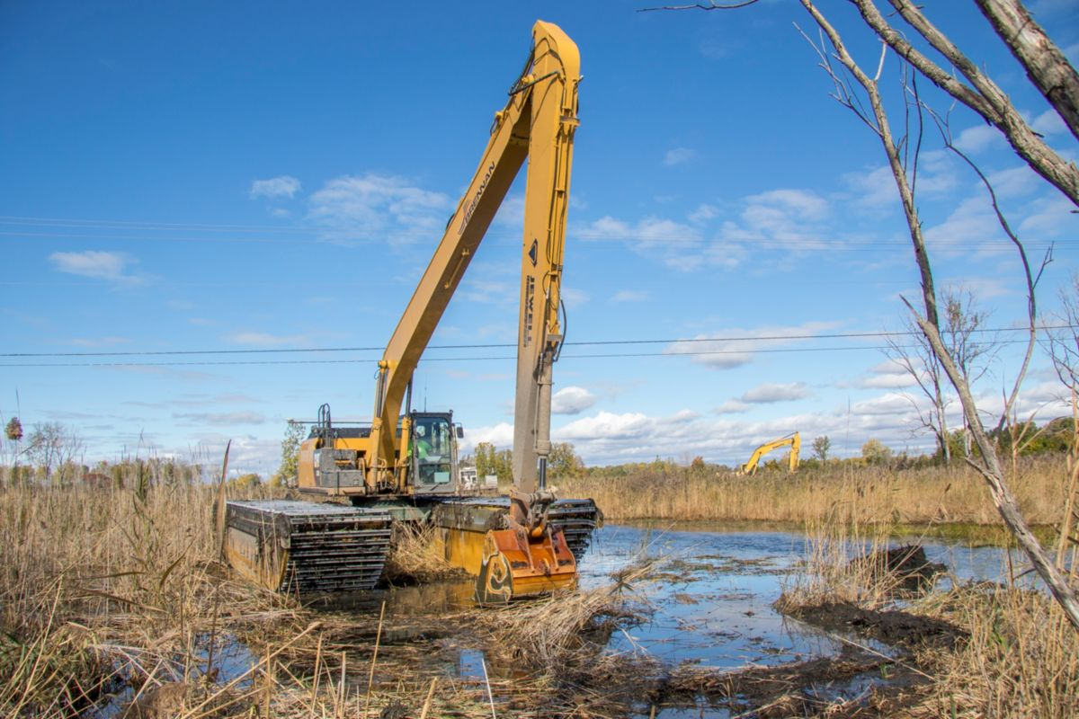 """J.F. Brennan's use of amphibious excavators minimizes the impact to vegetation in the marsh, and their impact on the marsh is really next to nothing."" -Caitlin Chaffee, CRMC coastal policy analyst"