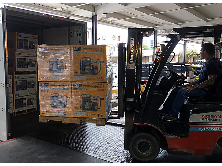 Mustang Cat® in Houston received a shipment of portable generators in time thanks to the cooperation between teams at Caterpillar.