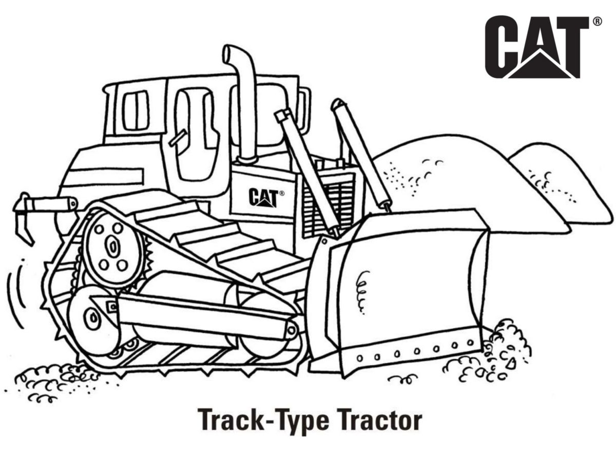 caterpillar machine coloring pages - photo#17