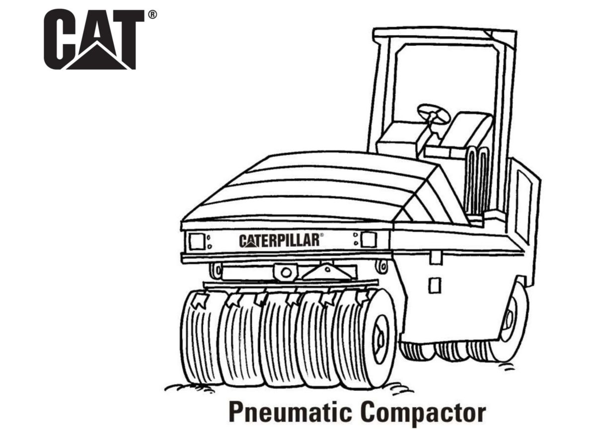 caterpillar machine coloring pages - photo#18