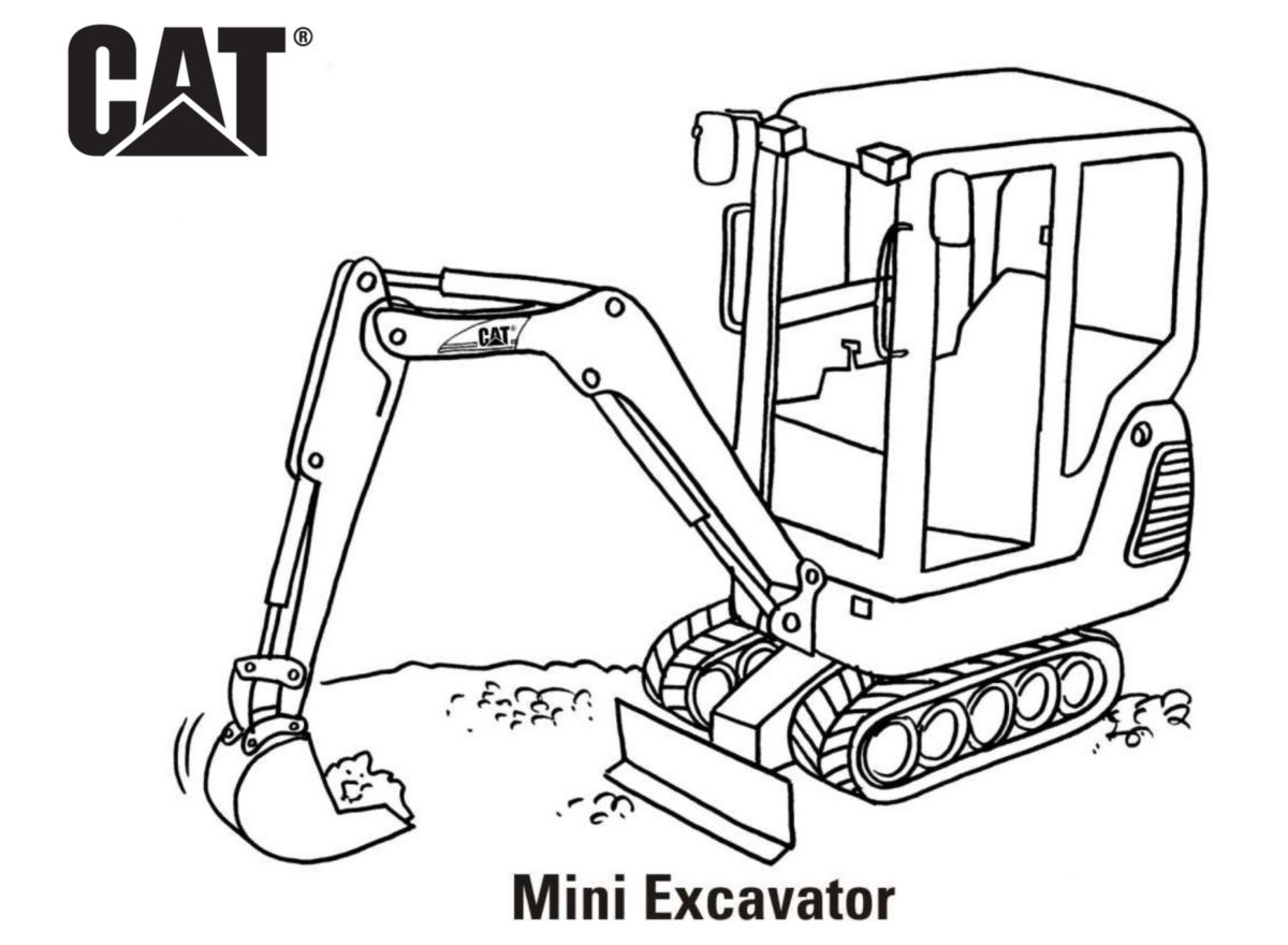 caterpillar machine coloring pages - photo#3