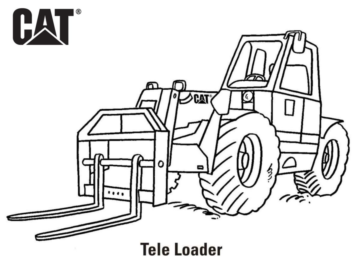 caterpillar machine coloring pages - photo#6