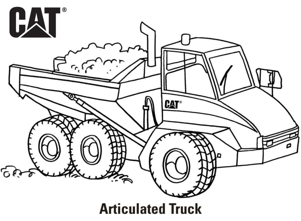 caterpillar machine coloring pages - photo#4