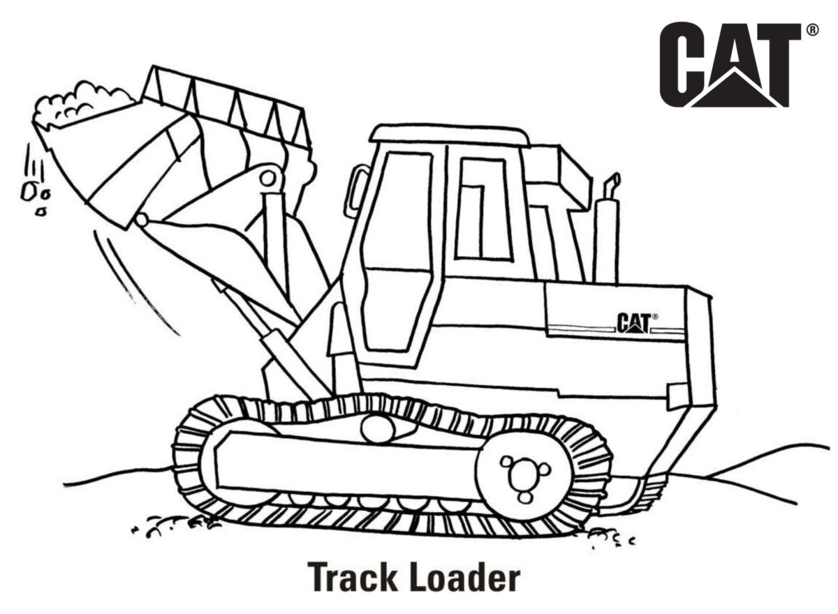 caterpillar machine coloring pages - photo#5