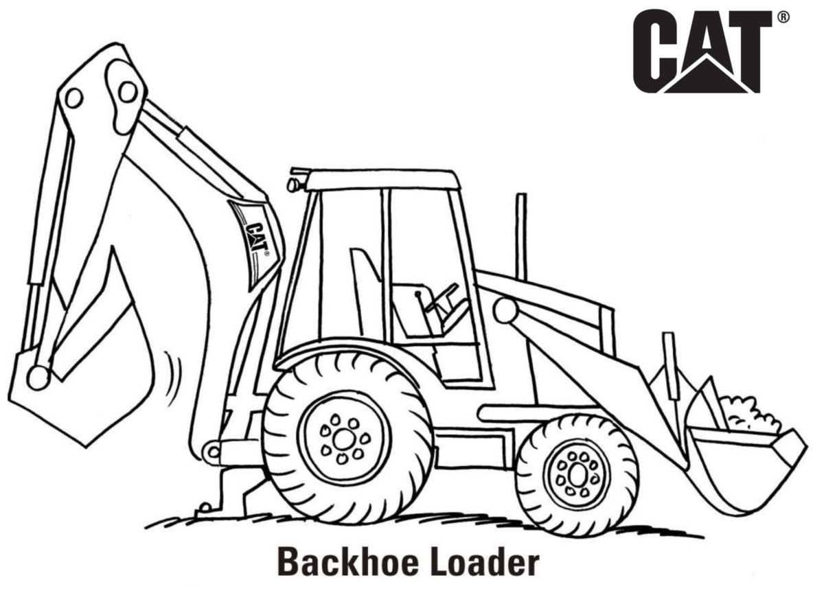 caterpillar machine coloring pages - photo#22