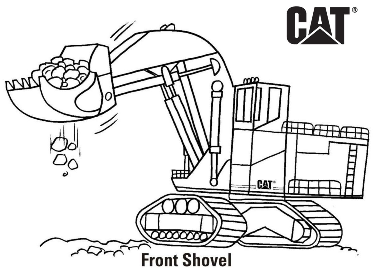 caterpillar machine coloring pages - photo#8