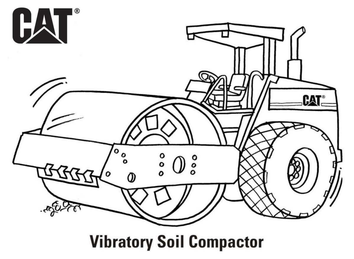 caterpillar machine coloring pages - photo#10
