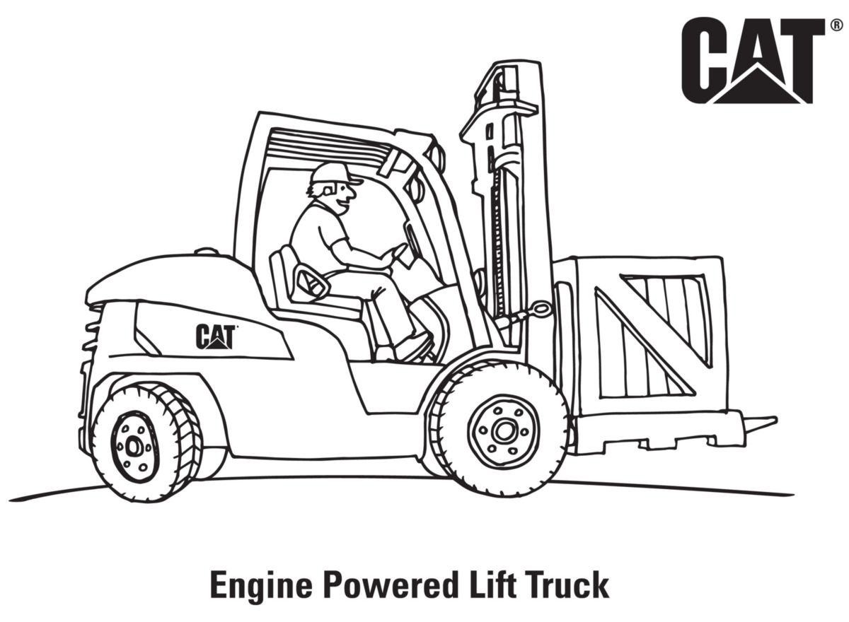 caterpillar machine coloring pages - photo#9