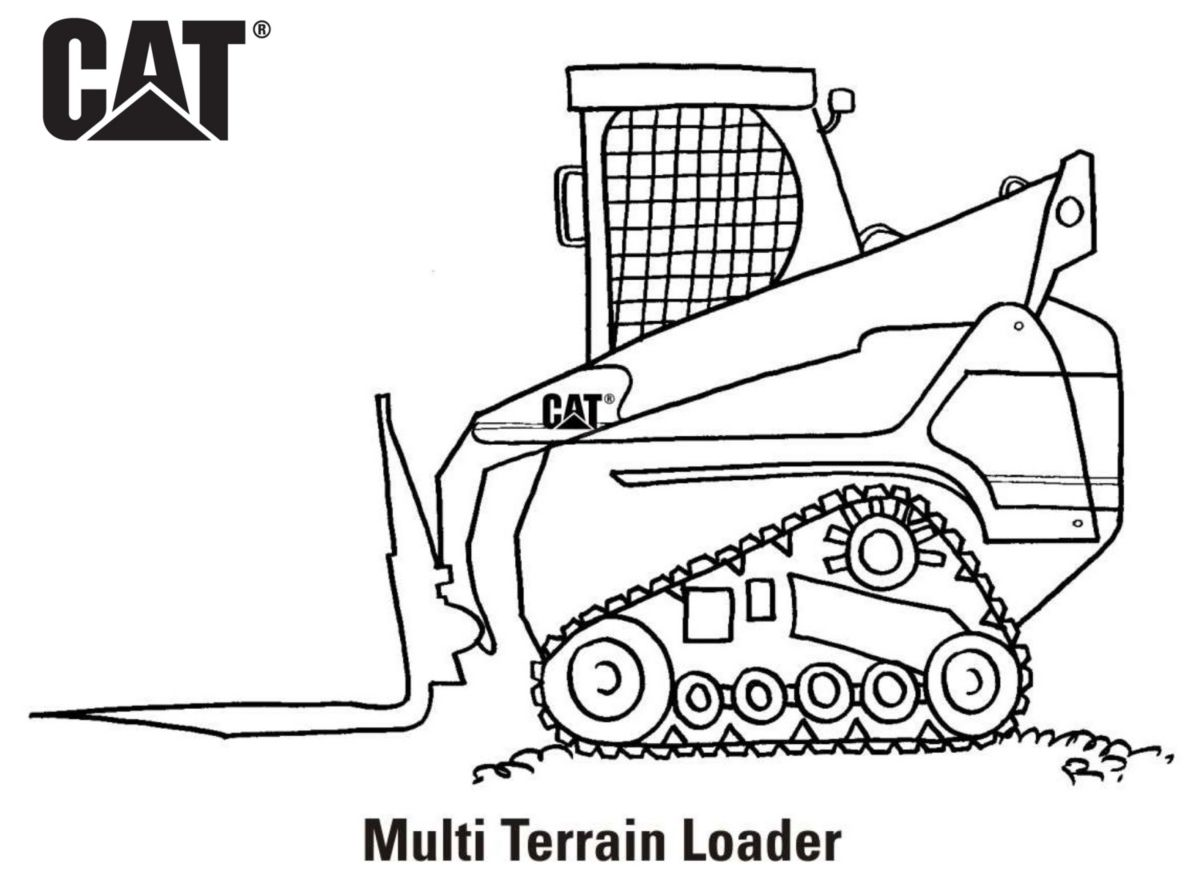 caterpillar machine coloring pages - photo#12