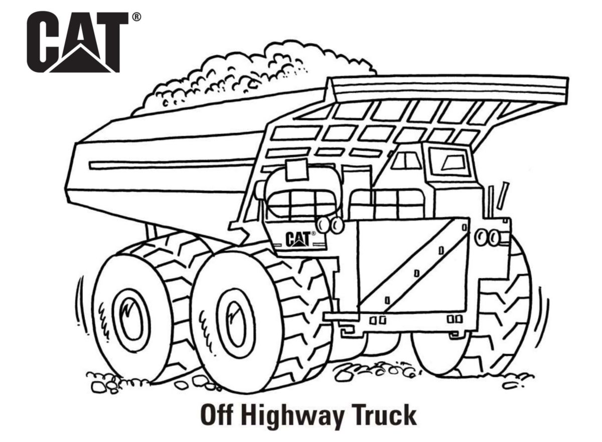 caterpillar machine coloring pages - photo#16