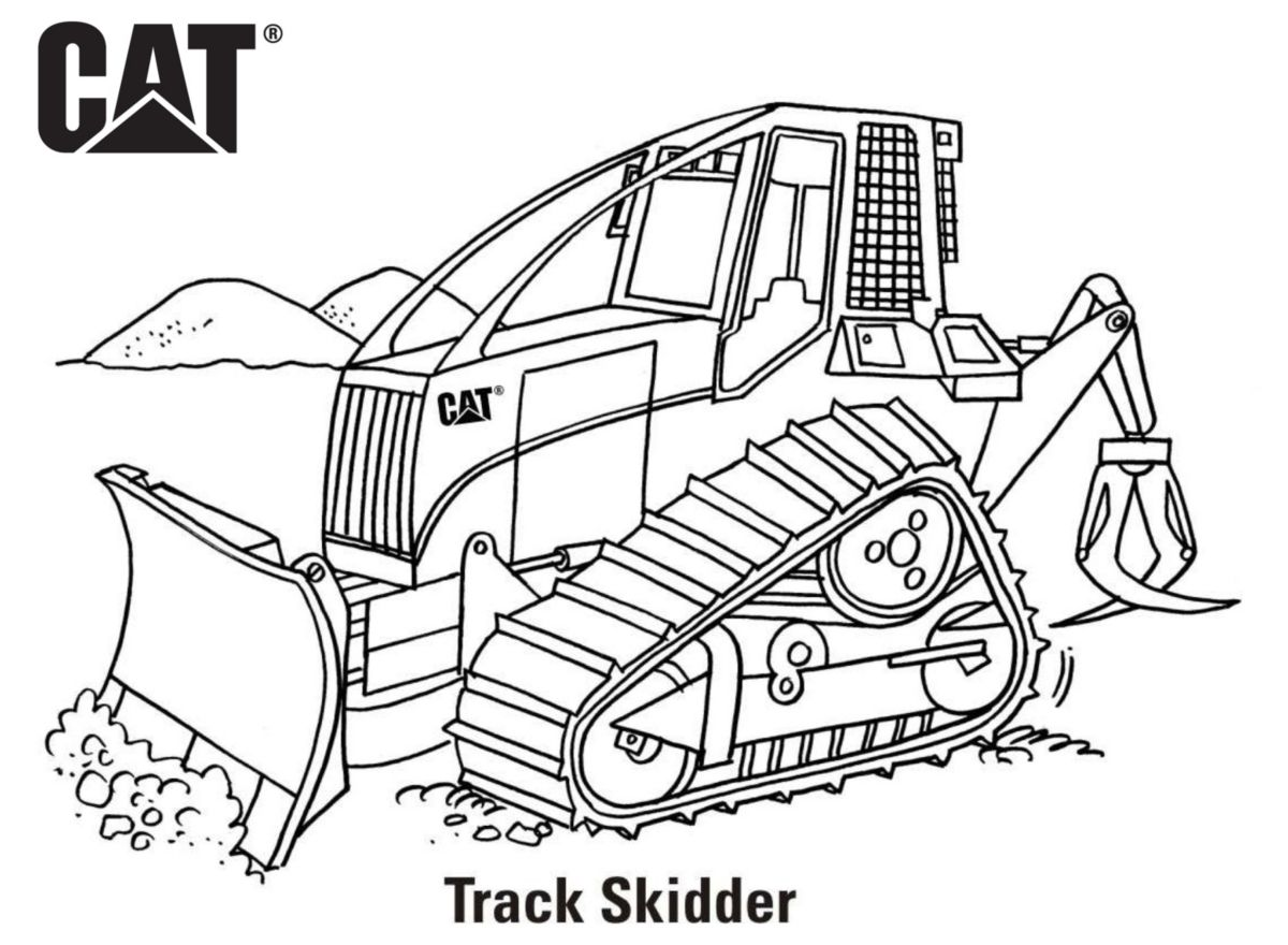 caterpillar machine coloring pages - photo#2