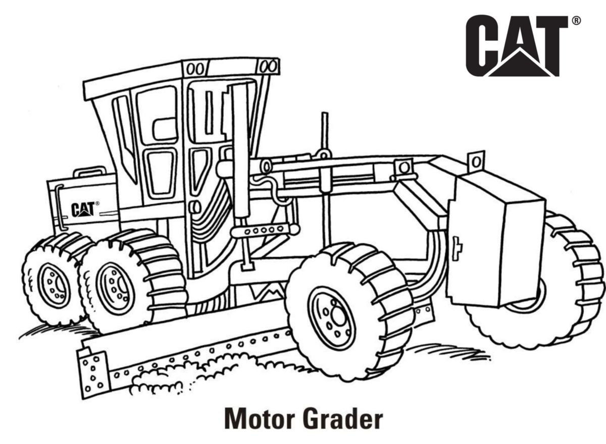 caterpillar machine coloring pages - photo#7