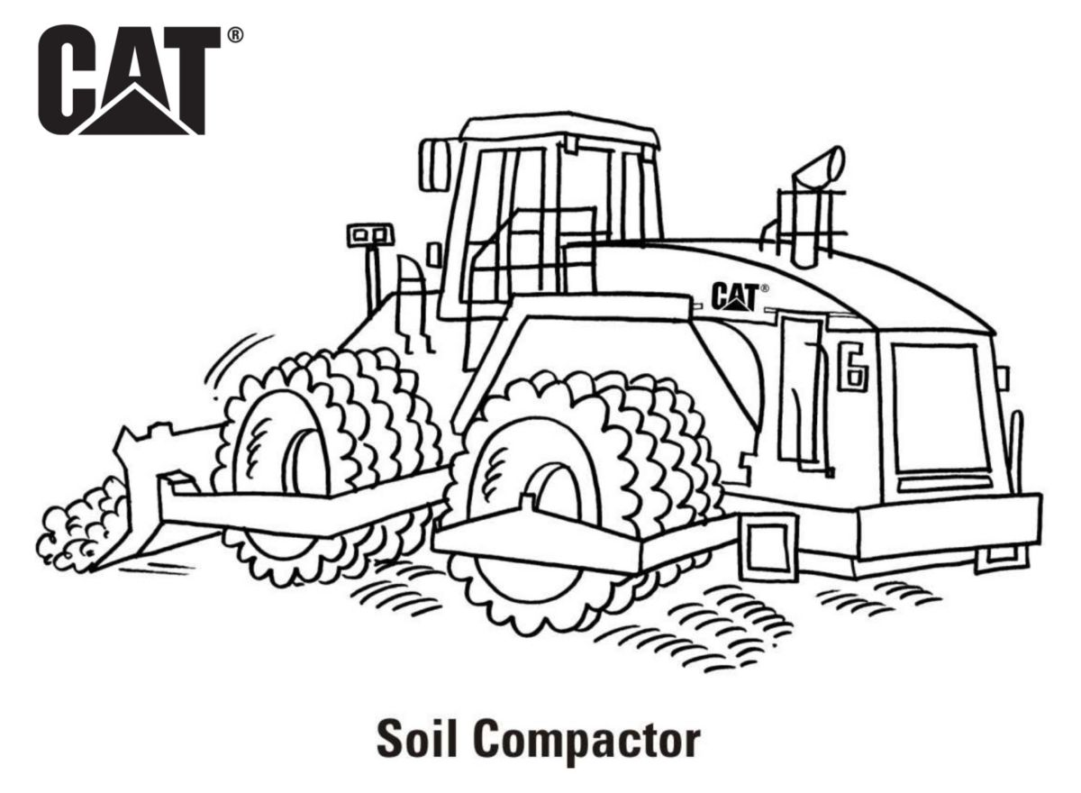 caterpillar machine coloring pages - photo#33