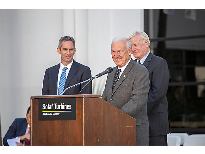 Solar President Pablo Koziner, Supervisor Ron Roberts and Supervisor Greg Cox