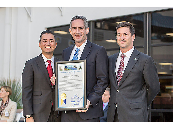 City Councilmember Chris Cate, Solar President Pablo Koziner and City Councilmember Chris Ward