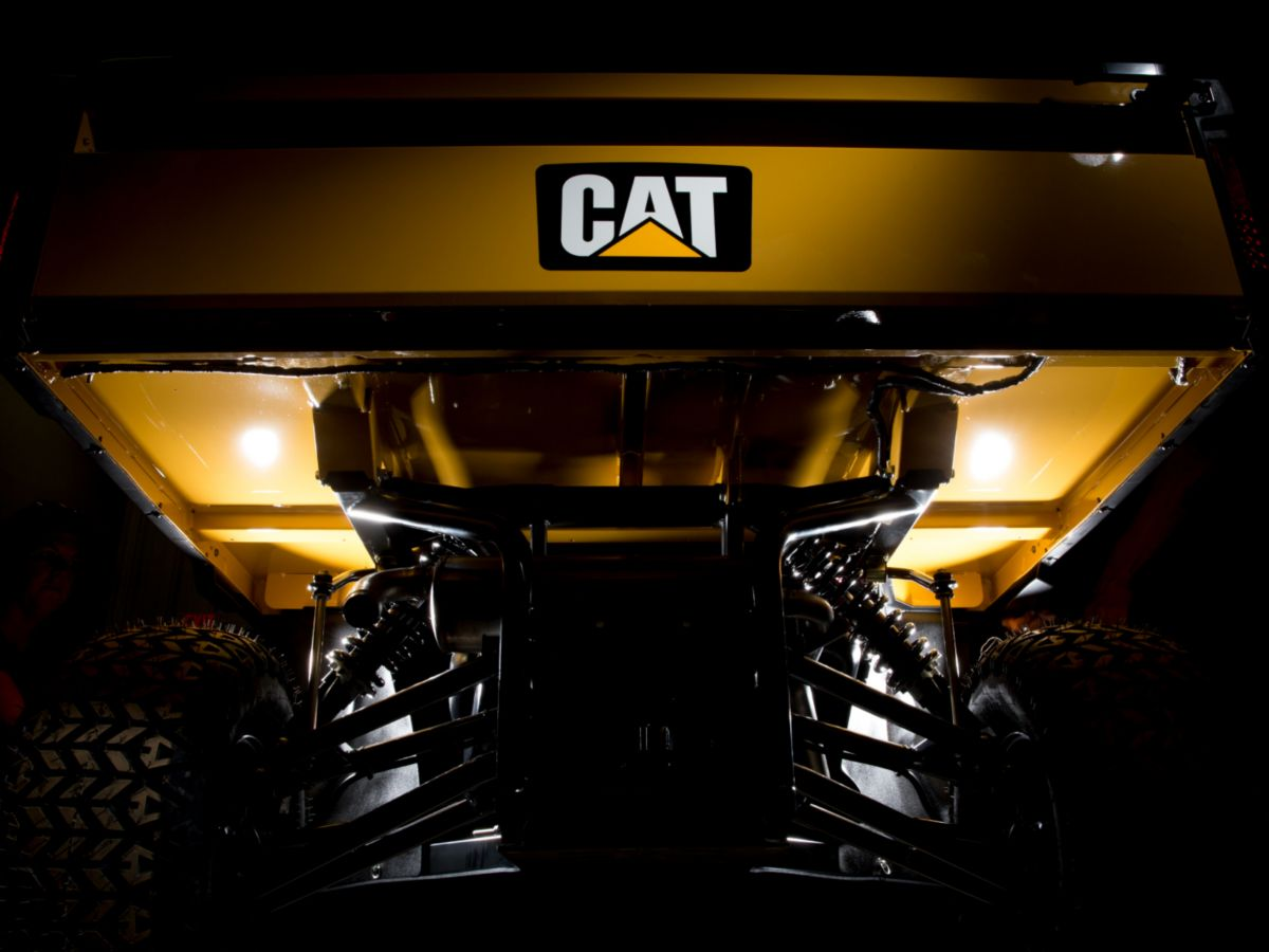 Cat Utility Vehicles boast a four-wheel independent suspension system with sway bar to provide unmatched stability at full load.