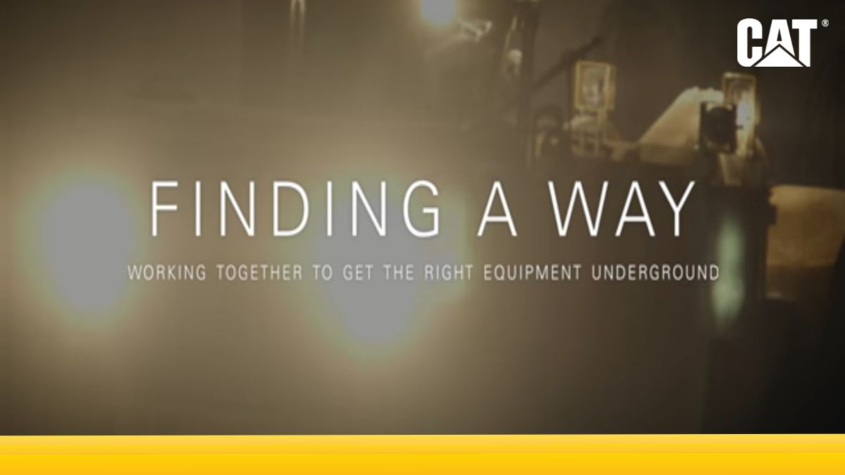 Finding a Way: Working Together to Get the Right Equipment Underground