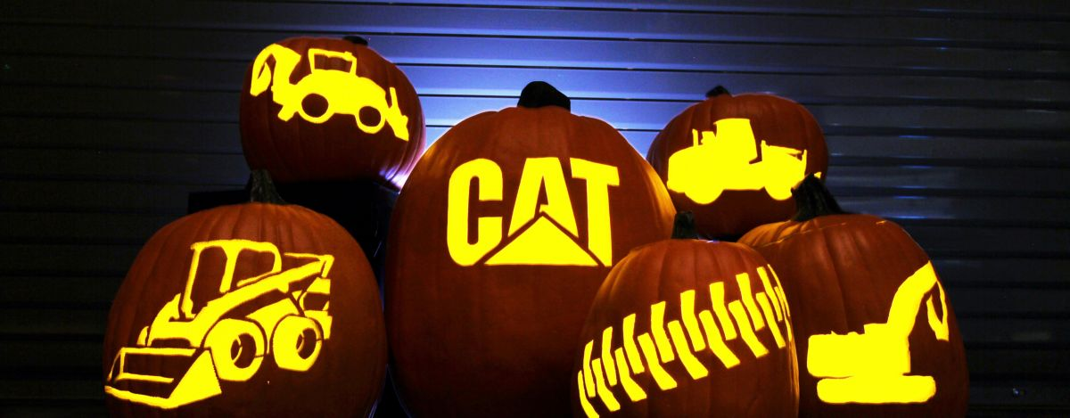 Cat | Pumpkin Carving Template | Caterpillar