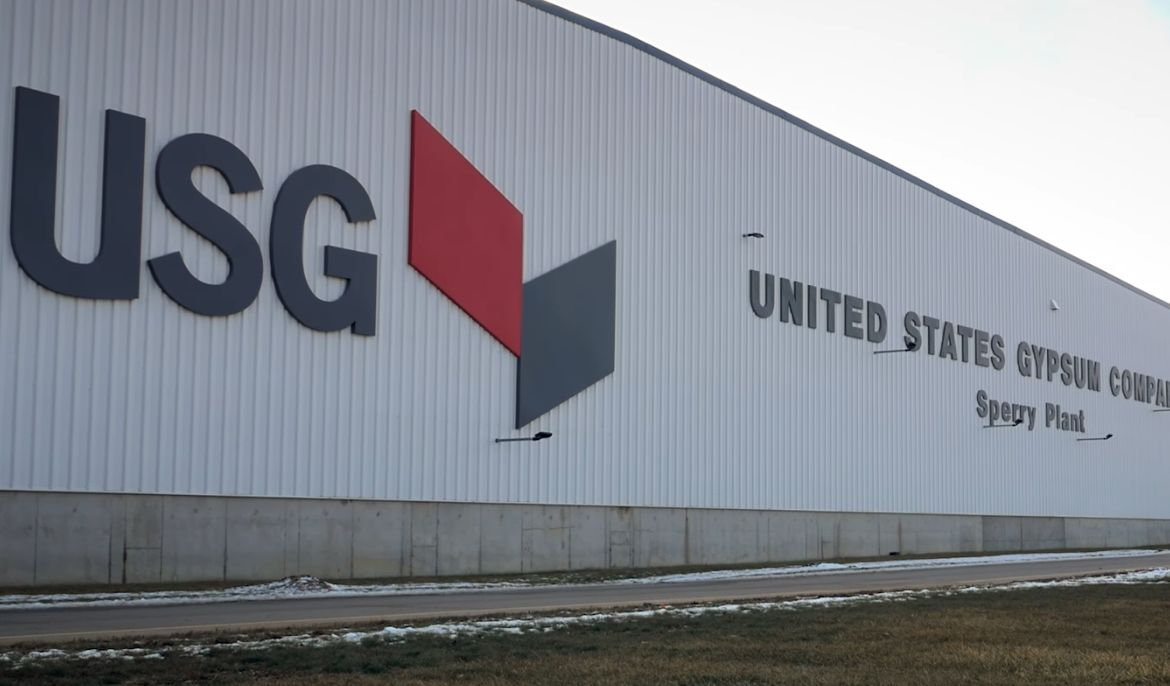 US Gypsum's Sperry Plant: Approx. 2 square miles underground & the only shaft mine in Iowa