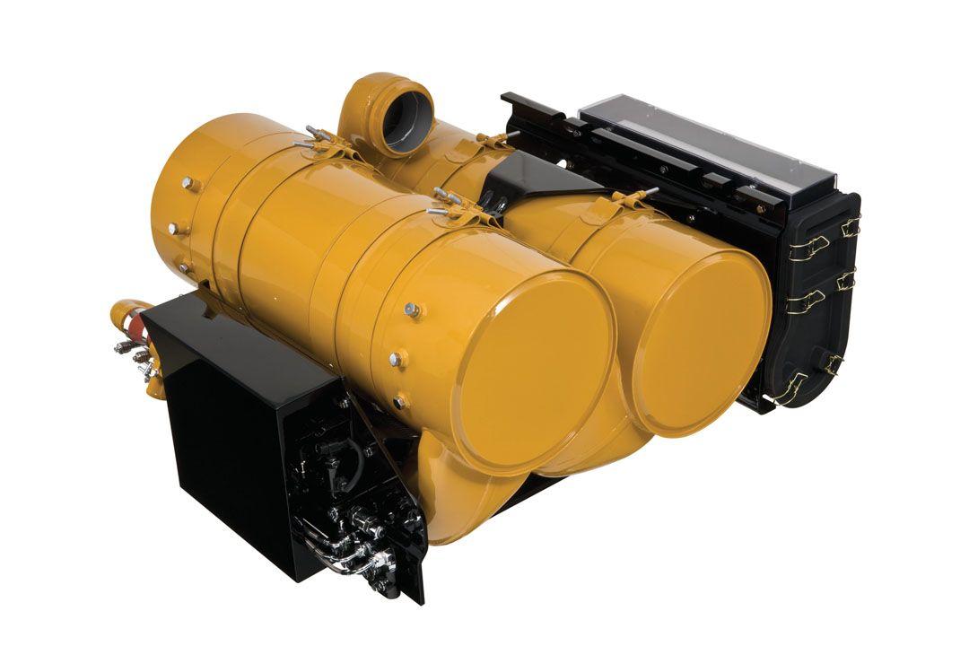 Запатентованная система регенерации Cat® (CRS) включена в модуль очистки выхлопных газов на двигателях