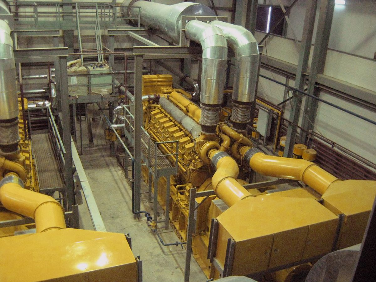 CHP plant supplies power to mining facilities and villages