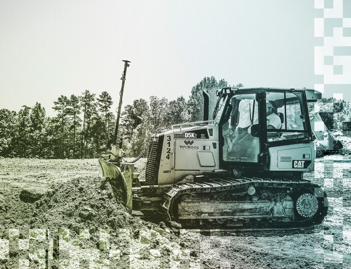 """Site foreman, Andrew Mattew, comments about Cat Grade: """"We just moved close to 200,000 yards of dirt on this project with no stakes,  just GPS equipment. It's made us so much more competitive."""""""
