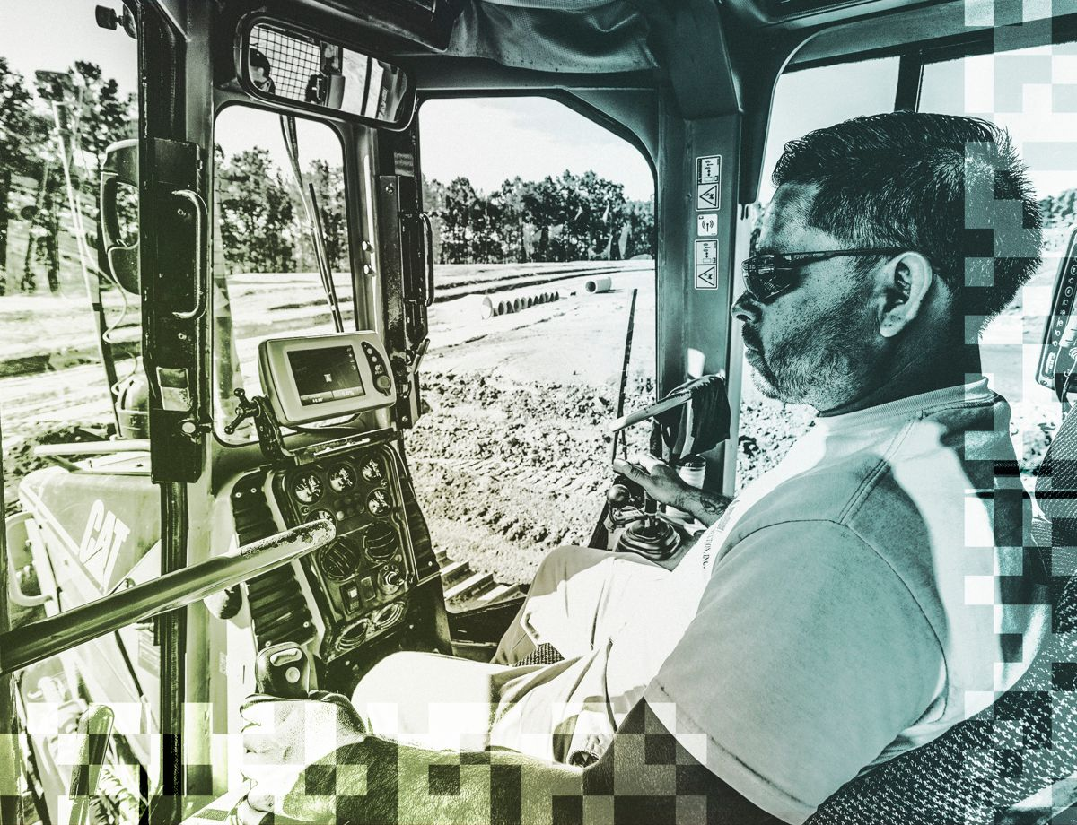 According to Nicholas Pope, operators with Cat Grade spend a lot less time grading, checking and regrading. It's one time in,  one time out.