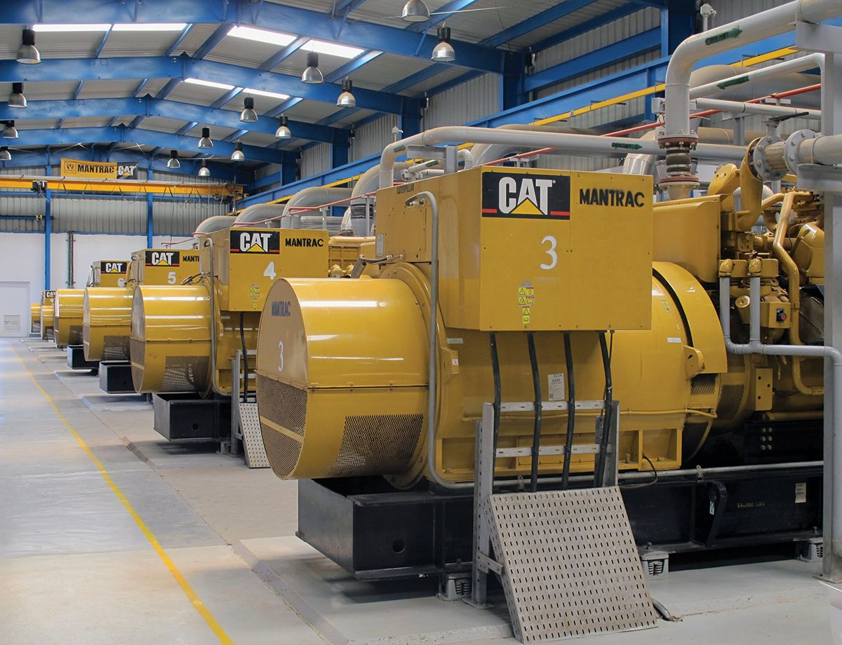 By March 5, 2007, all six of the Cat G3520C generators had come online and were connected to the existing Mtwara transmission and distribution infrastructure.