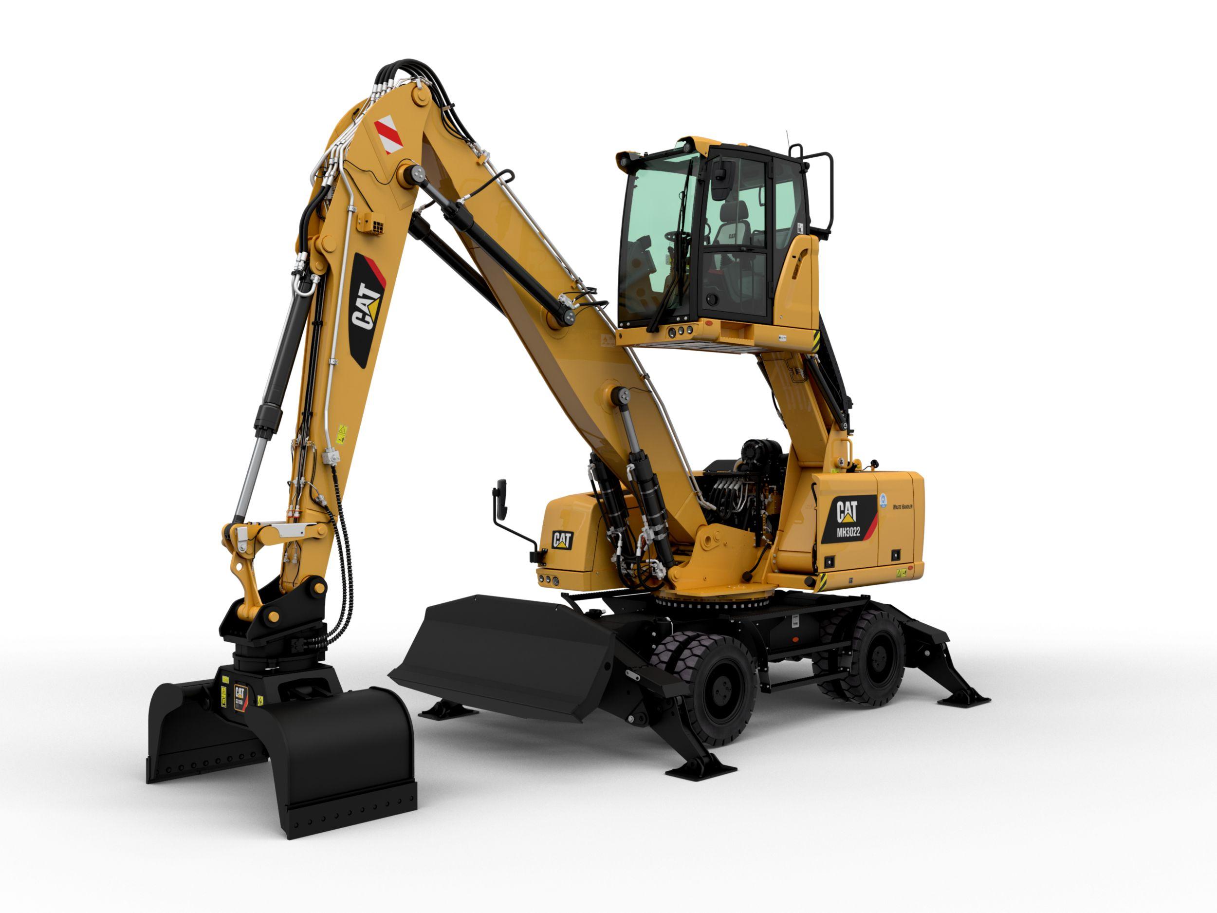 Pelle sur pneu pour manutention Bergerat Monnoyeur Caterpillar CAT