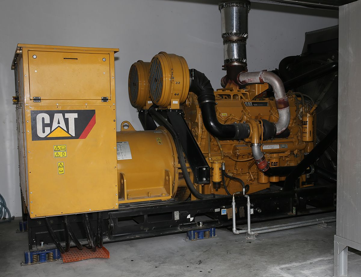 Cat C32 diesel generator set.