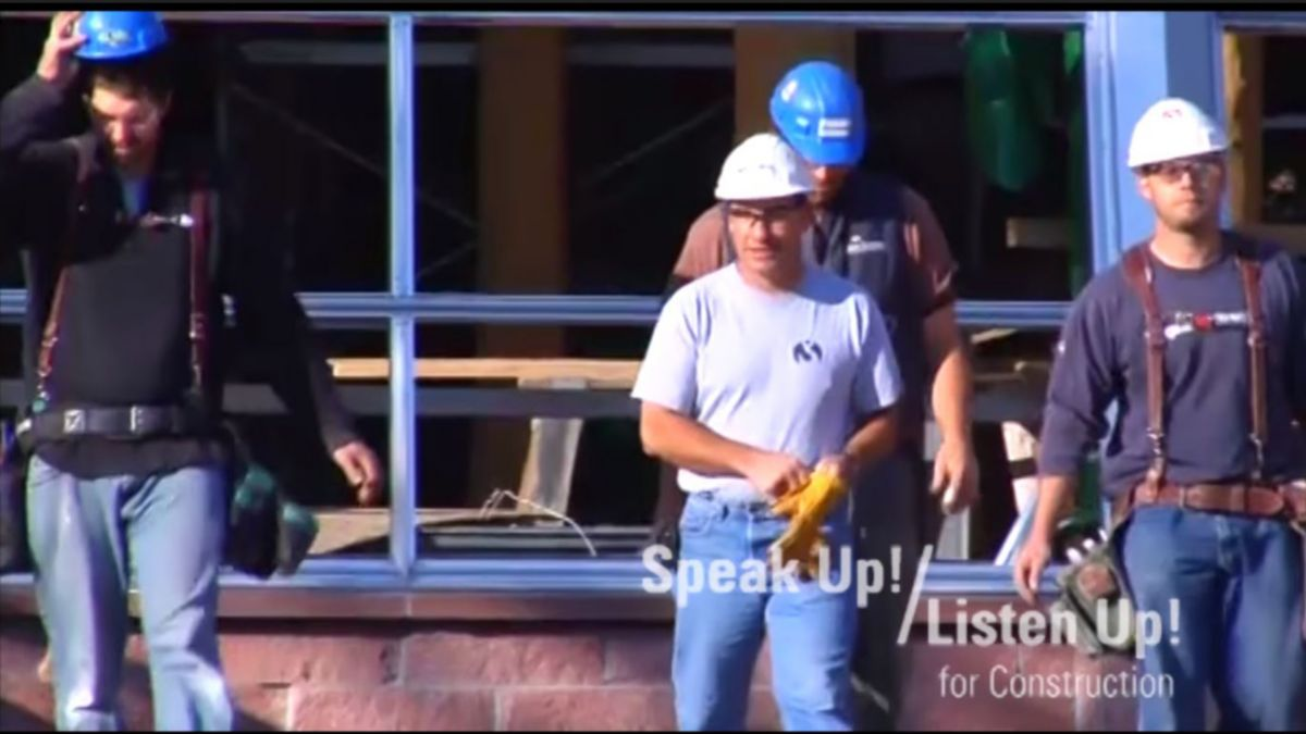 Safety Program Preview: Speak Up! Listen Up! for Construction