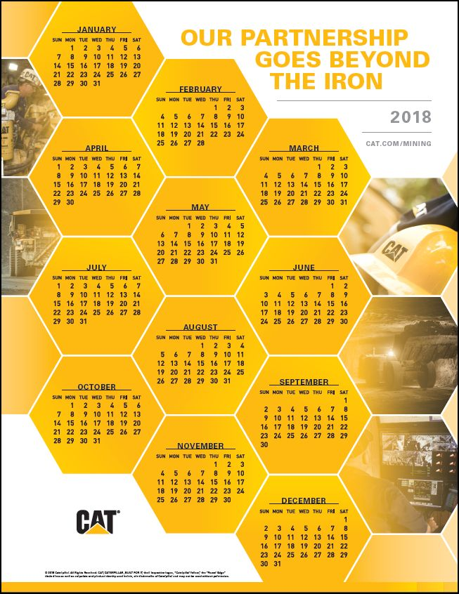2018 Caterpillar Global Mining Calendar