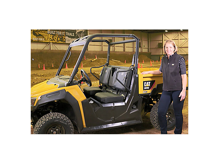 Norma Aldinger, marketing manager for Building Construction Products, is excited for Cat® UTV production to start in 2018.