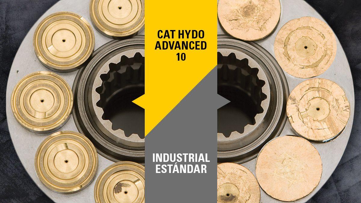 Rendimientos el aceite Cat HYDO Advanced 10
