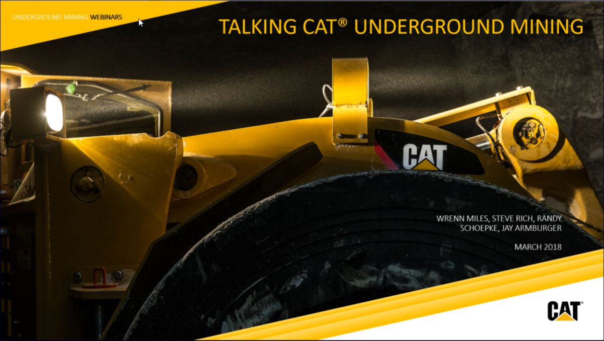 Webinar: Talking Cat® Underground Mining