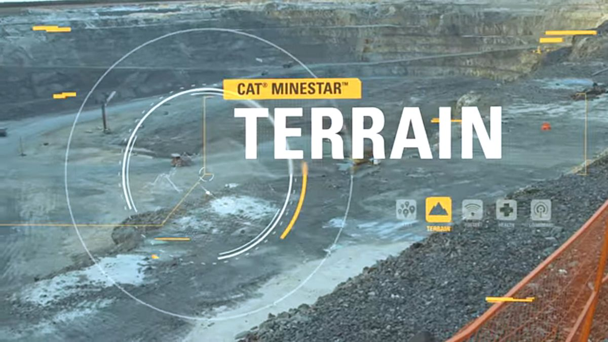 Cat® MineStar Terrain - Title Slide from Video